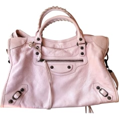 Leather Shoulder Bag BALENCIAGA Pink, fuchsia, light pink