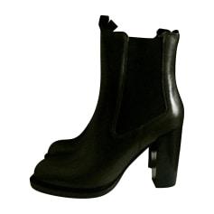 Bottines & low boots à talons CÉLINE Vert