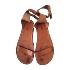 Sandales plates  CHLOÉ Marron