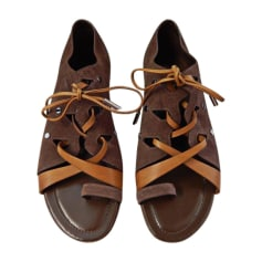 Flat Sandals TOD'S Brown