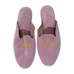 Hausschuhe, Pantoffeln YVES SAINT LAURENT Pink,  altrosa