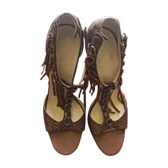 Heeled Sandals CHRISTIAN LOUBOUTIN Camel