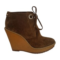 Wedge Ankle Boots BURBERRY Brown