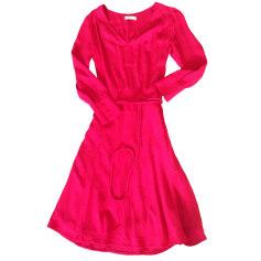Midi-Kleid BA&SH Rot, bordeauxrot