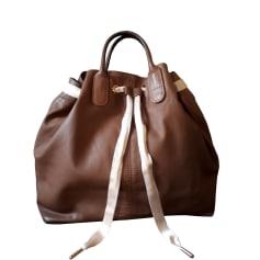 Leather Handbag REPETTO Brown