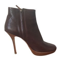 Wedge Ankle Boots DIOR Brown