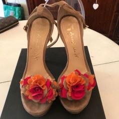 Sandales compensées ANNARITA N Beige, camel