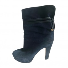 High Heel Ankle Boots SERGIO ROSSI Blue, navy, turquoise
