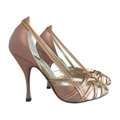 Sandales à talons DOLCE & GABBANA Rose, fuschia, vieux rose