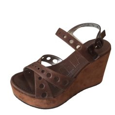 Wedge Sandals FREE LANCE Brown