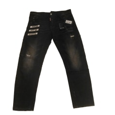 Straight Leg Jeans DSQUARED2 Black