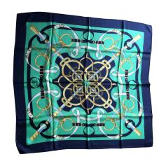 Foulard HERMÈS Carré Blu, blu navy, turchese