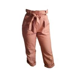 Pantalon évasé SANDRO Rose, fuschia, vieux rose