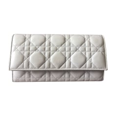Wallet DIOR White, off-white, ecru