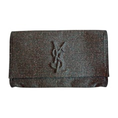 Non-Leather Clutch YVES SAINT LAURENT Gray, charcoal