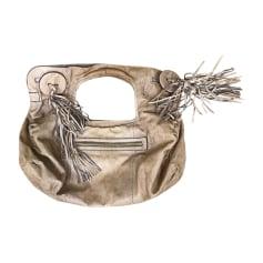 Leather Handbag SERGIO ROSSI Beige, camel