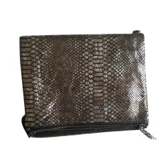Leather Shoulder Bag ZADIG & VOLTAIRE Silver