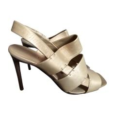 Heeled Sandals CÉLINE Golden, bronze, copper