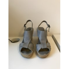 Sandales compensées TEXTO Bleu, bleu marine, bleu turquoise
