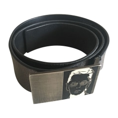 Wide Belt KARL LAGERFELD Gray, charcoal