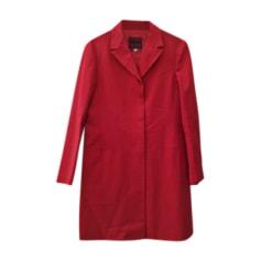 Paletot Jacket VERSACE Red, burgundy