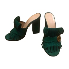 Mules GUCCI Green