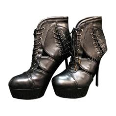 Bottines & low boots à compensés ALEXANDER MCQUEEN Noir