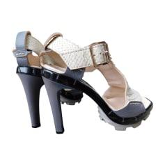 Heeled Sandals CÉLINE White, off-white, ecru