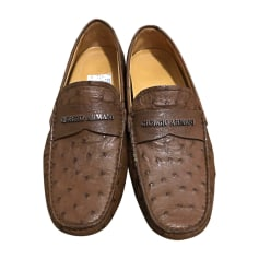 Loafers GIORGIO ARMANI Brown
