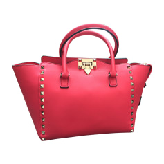 Leather Handbag VALENTINO Red, burgundy