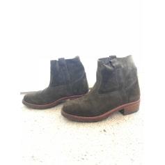 Santiags, bottines, low boots cowboy LA BOTTE GARDIANE Kaki