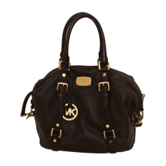 Leather Handbag MICHAEL KORS Brown