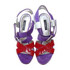 Sandales à talons DOLCE & GABBANA Violet/Rouge/Blanc