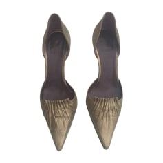 Sandales à talons BALLY Doré, bronze, cuivre