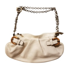 Leather Handbag SALVATORE FERRAGAMO White, off-white, ecru