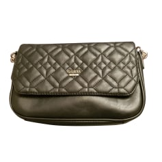 Leather Clutch GUESS Black