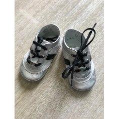 Chaussures à lacets BABY DIOR Argenté, acier