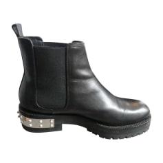 Bottines & low boots plates ALEXANDER MCQUEEN Noir