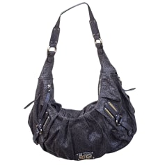Leather Shoulder Bag GUESS Gray, charcoal