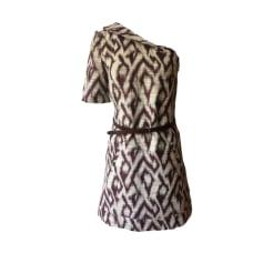 Mini-Kleid BA&SH Weiß, elfenbeinfarben