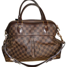 Leather Oversize Bag LOUIS VUITTON Trevi Brown