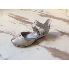 Sandales compensées REGARD Beige, camel