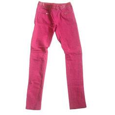 Straight Leg Jeans MAJE Red, burgundy