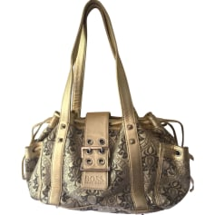 Leather Handbag HUGO BOSS Golden, bronze, copper