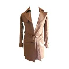 Manteau en cuir CARAMELO Beige, camel