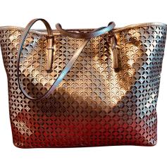 Leather Oversize Bag MICHAEL KORS Golden, bronze, copper