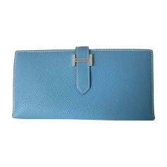 Portefeuille HERMÈS Bleu, bleu marine, bleu turquoise