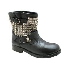 Chaussure à Talon Compensé Femme Pas cher en Soldes Outlet, Noir, Velours, 2017, 39Ash