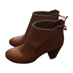 High Heel Ankle Boots MICHEL VIVIEN Beige, camel