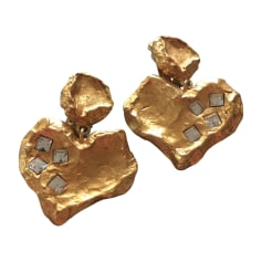 Earrings CHRISTIAN LACROIX Golden, bronze, copper